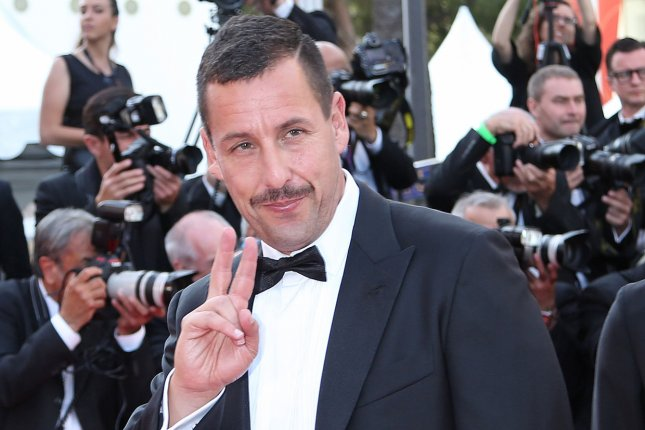 Adam Sandler plays a detective framed for murder in the Netflix movie Murder Mystery. File Photo by David Silpa/UPI