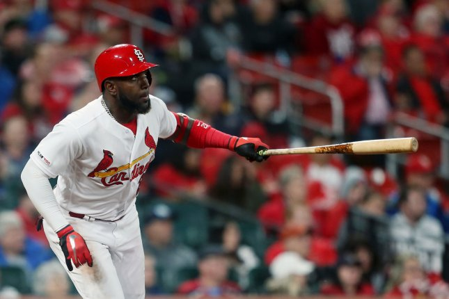 St. Louis Cardinals star Marcell Ozuna had four RBIs in a win against the Pittsburgh Pirates on Thursday in St. Louis. Photo by Bill Greenblatt/UPI