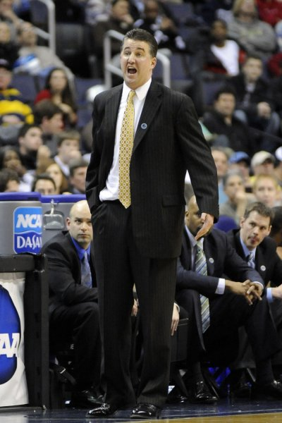 Coach Matt Painter and Purdue face Texas Tech in the Sweet 16 of the NCAA tournament. File photo by Mark Goldman/UPI
