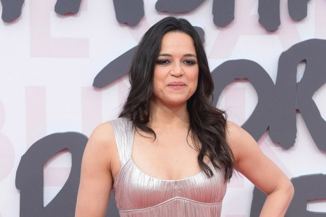 Michelle Rodriguez attends the Fashion For Relief catwalk show at Mandelieu Airport in Cannes, France, on May 13, 2018. The actor turns 41 on July 12. File Photo by Rune Hellestad/UPI