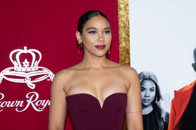 Alexandra Shipp arrives on the red carpet at the premiere of Shaft at AMC Lincoln Square on June 10 in New York City. The actor turns 28 on July 16. File Photo by Serena Xu-Ning/UPI