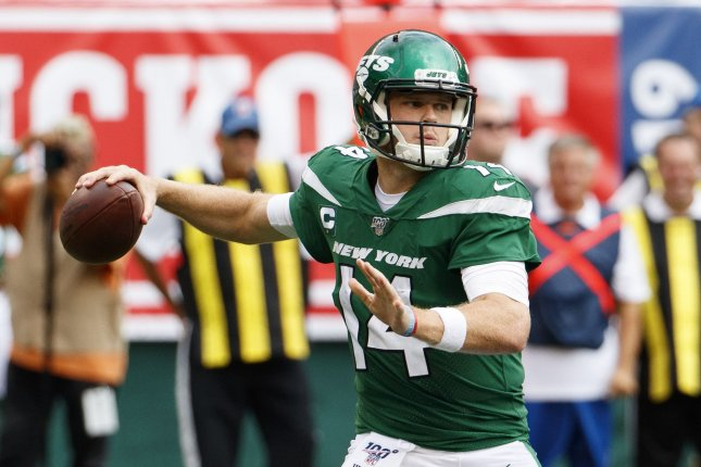 New York Jets quarterback Sam Darnold was diagnosed with mononucleosis four weeks ago. File Photo by Chris Szagola/UPI