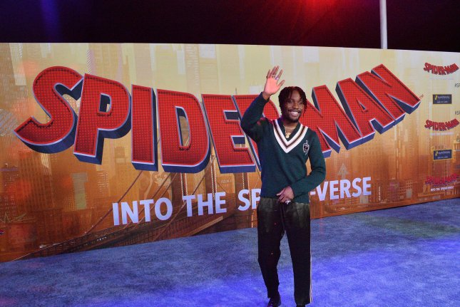 Shameik Moore provided the voice of Miles Morales in Spider-Man: Into the Spiderverse, to which Sony will release a sequel April 8, 2022. File Photo by Jim Ruymen/UPI