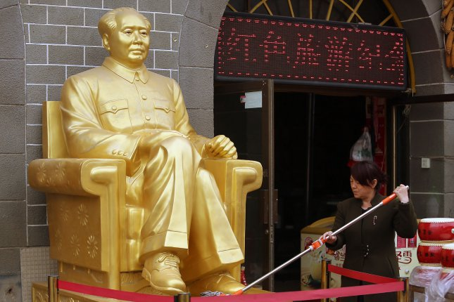 The history of former Chinese leader Mao Zedong's son, Mao Anying, is undergoing a revision in China under Xi Jinping, according to a press report Tuesday. File Photo by Stephen Shaver/UPI