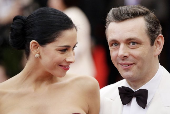 Sarah Silverman (L) said she and boyfriend MIchael Sheen have very different interests. File photo by John Angelillo/UPI