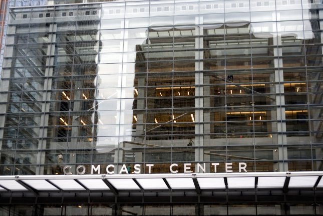 The Comcast Center in downtown Philadelphia. Comcast Corp. announced an offer to buy Sky for $31 billion. File photo by John Anderson/UPI
