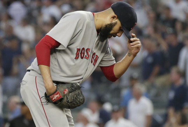 David Price and the Boston Red Sox face the New York Yankees on Sunday. Photo by John Angelillo/UPI
