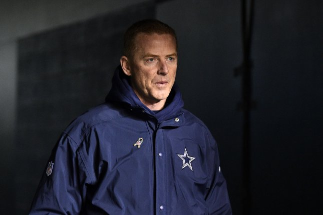 Dallas Cowboys head coach Jason Garrett walks onto the field prior to an NFL football game against the Philadelphia Eagles on November 11 at Lincoln Financial Field in Philadelphia. Photo by Derik Hamilton/UPI