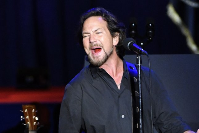 Eddie Vedder of Pearl Jam. The band will be performing at the Apollo Theater for the first time. File Photo by David Banks/UPI