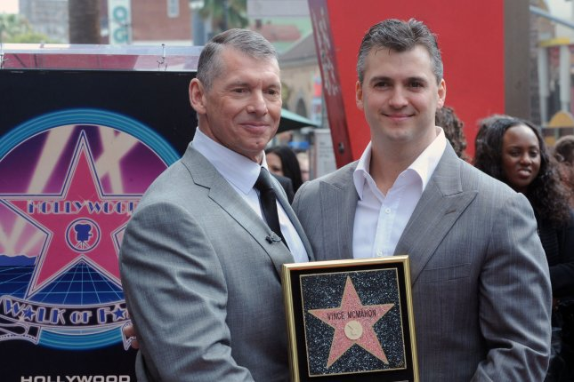 Vince McMahon (L) is chairman and CEO of World Wrestling Entertainment and is the owner of Alpha Entertainment, which was the parent company of the XFL. The XFL filed for Chapter 11 bankruptcy earlier this month. File Photo by Jim Ruymen/UPI
