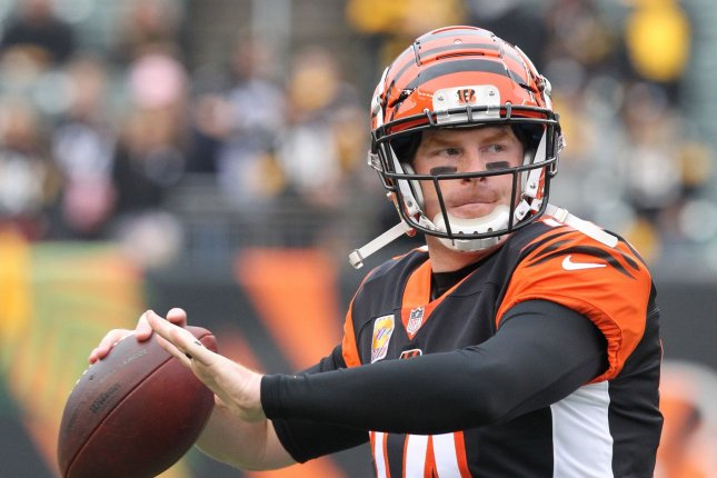 The Cincinnati Bengals released quarterback Andy Dalton last week after nine seasons. File Photo by John Sommers II/UPI