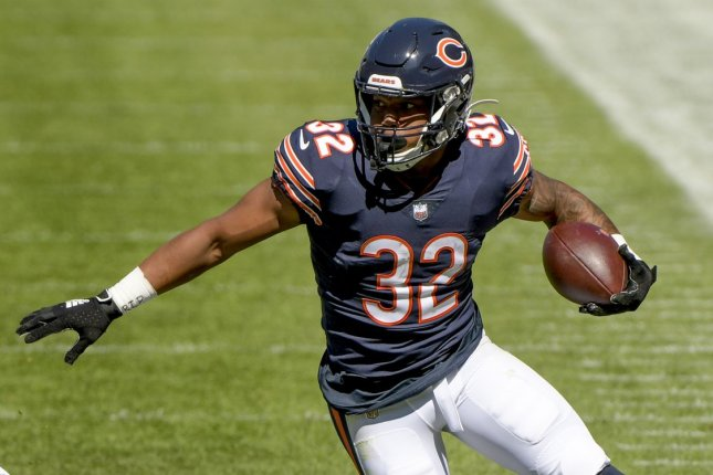 David Montgomery of the Chicago Bears is my No. 2 fantasy football running back for Week 13. File Photo by Mark Black/UPI