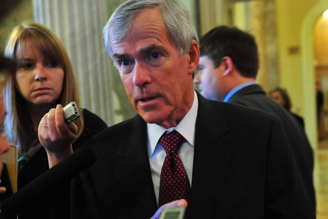 Sen. Mark Udall (D-CO) speaks to the media in 2010. UPI/Kevin Dietsch