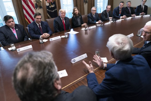 President Donald Trump meets with 13 governors-elect Thursday at the White House. Photo by Chris Kleponis