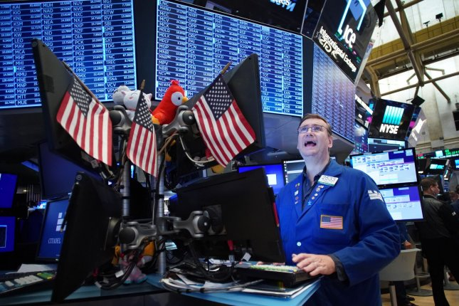 The Dow Jones Industrial Average fell by 240 points in opening trading Friday following a U.S. airstrike targeting a top Iranian general. File Photo by John Angelillo/UPI