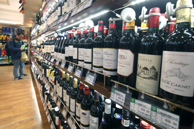 Sales of alcohol during the coronavirus pandemic have soared, and the U.S. beer, wine and alcohol industries hope to make some of the relaxed rules on purchasing permanent. File Photo by Stephen Shaver/UPI