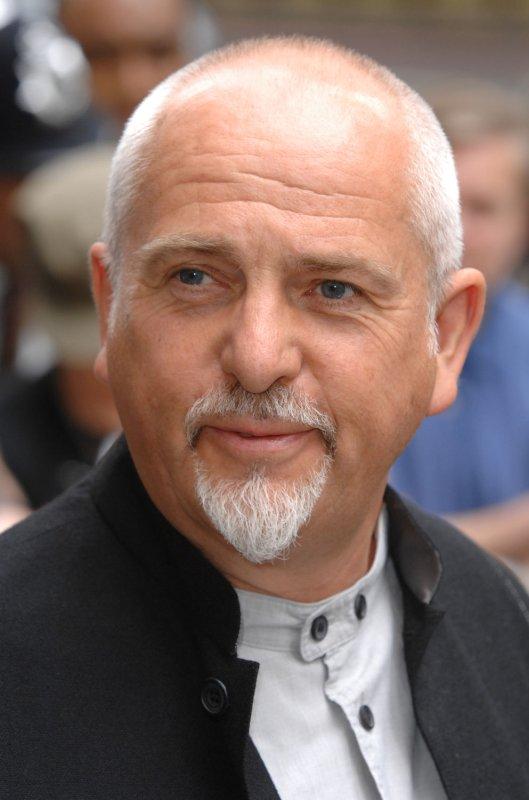 British singer Peter Gabriel in London on May 24, 2007. (UPI Photo/Rune Hellestad)