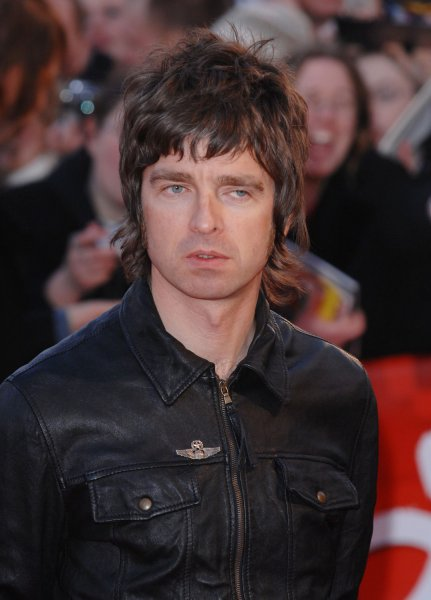 British singer/guitarist Noel Gallagher from Oasis attends The Brit Awards at Earl's Court in London on February 14, 2007. (UPI Photo/Rune Hellestad)