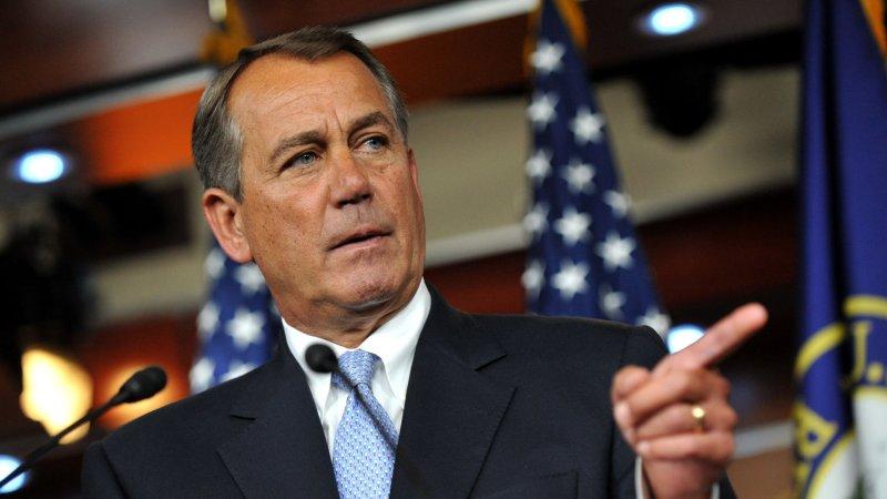 Speaker of the House John Boehner (R-OH) on May 10. UPI/Kevin Dietsch