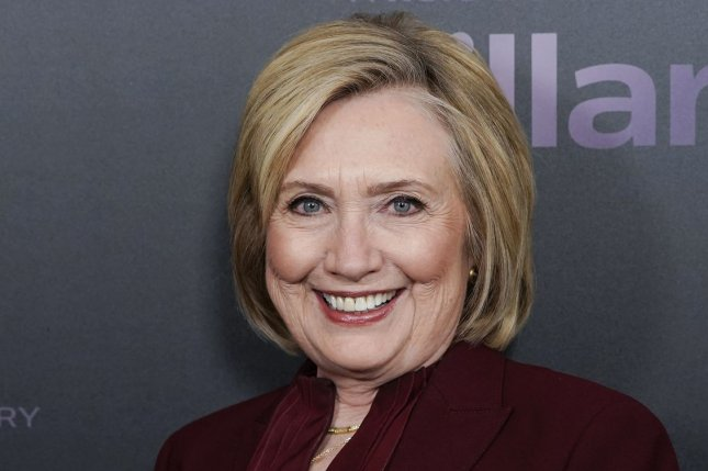 Hillary Clinton will be making a guest appearance on the 2021 iHeartRadio Podcast Awards, along with Will Ferrell and Laverne Cox. File Photo by John Angelillo/UPI