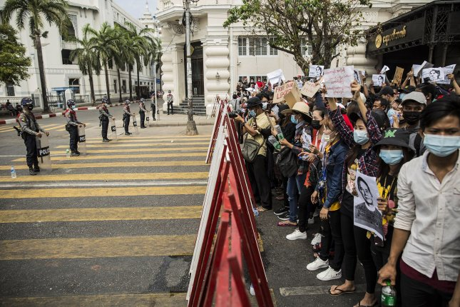 Canada and Britain sanctioned Myanmar's military leaders on Thursday over seizing the government earlier this month in a coup. Photo by Xiao Long/ UPI