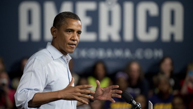President Barack Obama delivers remarks at a campaign event at Dobbins Elementary School in Poland, Ohio on July 6, 2012. UPI/Kevin Dietsch