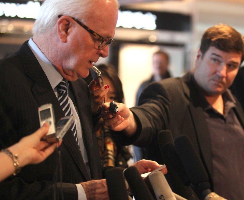 U.S. special envoy Stephen Bosworth holds an news conference during a visit to Beijing Nov. 24, 2010. UPI/Stephen Shaver