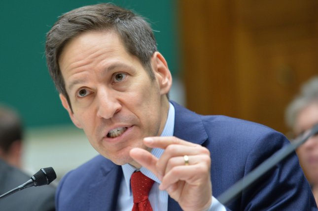 Center for Disease Control (CDC) Director Tom Frieden, pictured in July, warned on September 23, 2014 that Without interventions, Ebola cases in Liberia and Sierra Leone will continue to double every 20 days. (UPI/Kevin Dietsch)