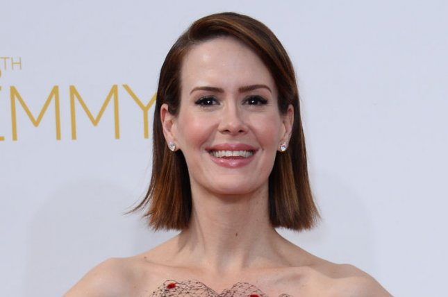 Sarah Paulson is confirmed for 'American Horror Story: Hotel.' File photo by Jim Ruymen/UPI