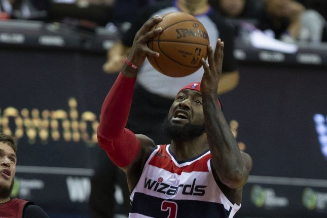 John Wall and the Washington Wizards visit the Sacramento Kings on Friday. Photo by Alex Edelman/UPI