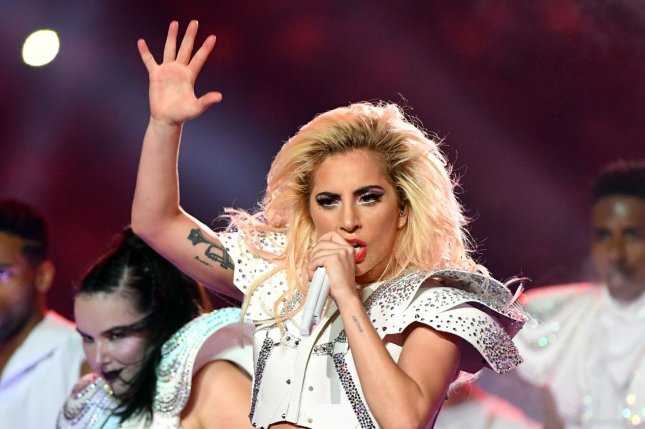 Lady Gaga performs during the halftime show at Super Bowl LI on February 5. Gaga is the subject of new Netflix documentary titled Five Foot Two. File Photo by Kevin Dietsch/UPI