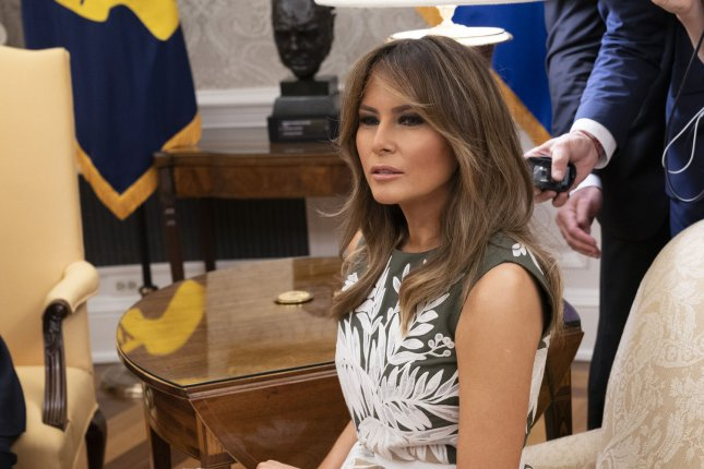 First lady Melania Trump arrived in Texas on Thursday to visit the border area amid President Donald Trump's administration's crisis over the separation of families. Photo by Chris Kleponis/UPI