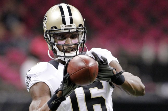 Former New Orleans Saints wide receiver Brandon Coleman (16) warms up before a game against the Dallas Cowboys on October 4, 2015 at the Mercedes-Benz Superdome in New Orleans. File photo by AJ Sisco/UPI