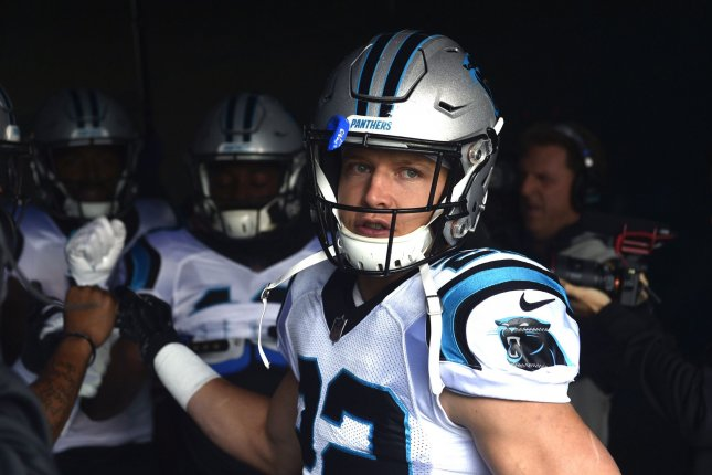 Carolina Panthers star Christian McCaffrey is one of the most dynamic running backs in the NFL. McCaffrey set the NFL record for receptions by a running back last season with 107 catches in 16 starts in 2018. File Photo by Derik Hamilton/UPI