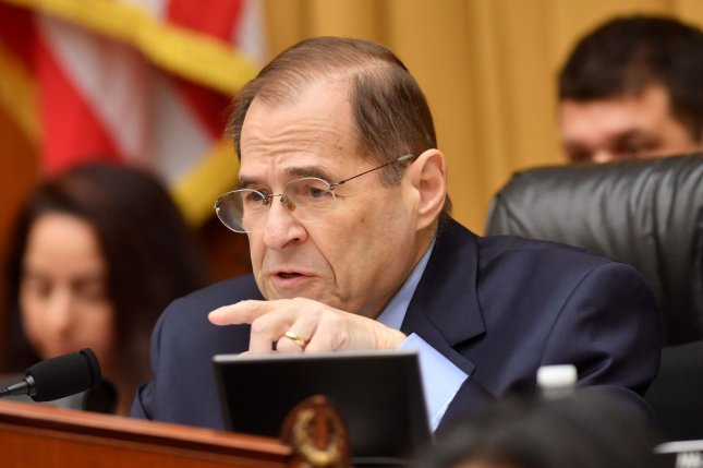 House Judiciary Committee Chairman Jerry Nadler, D-Ny., will bring the House judiciary committee back early to take up several gun control bills. Photo by Kevin Dietsch/UPI