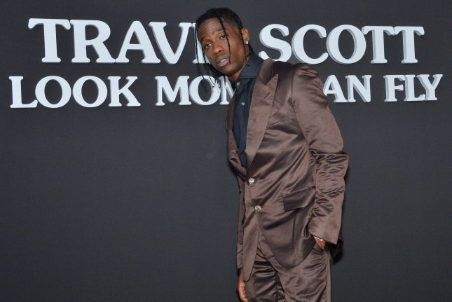 Travis Scott and the rap collective JackBoys have the No. 1 album on the Billboard 200 chart this week. File Photo by Jim Ruymen/UPI