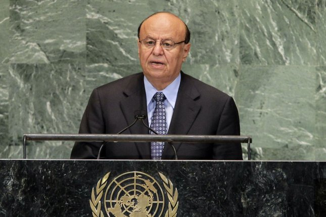 His Excellency Abdrabuh Mansour Hadi Mansour, President of the Republic of Yemen addresses the United Nations at the 67th United Nations General Assembly in the UN building in New York City on September 26, 2012. (UPI/John Angelillo)