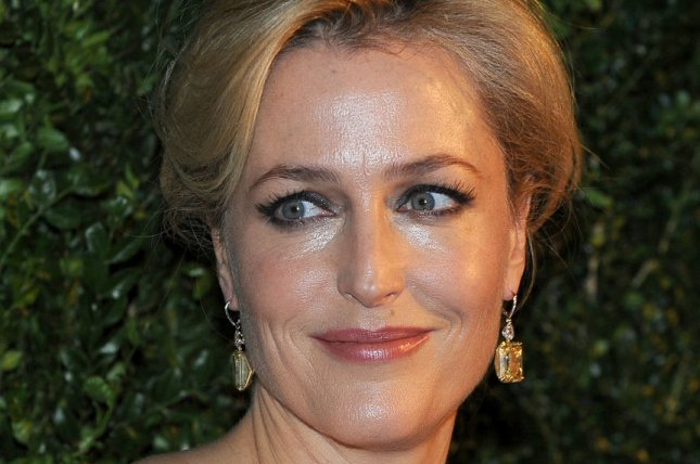 American actress Gillian Anderson attends the London Evening Standard Theatre Awards at The Palladium in London on Nov. 30, 2014. Photo by Paul Treadway/UPI