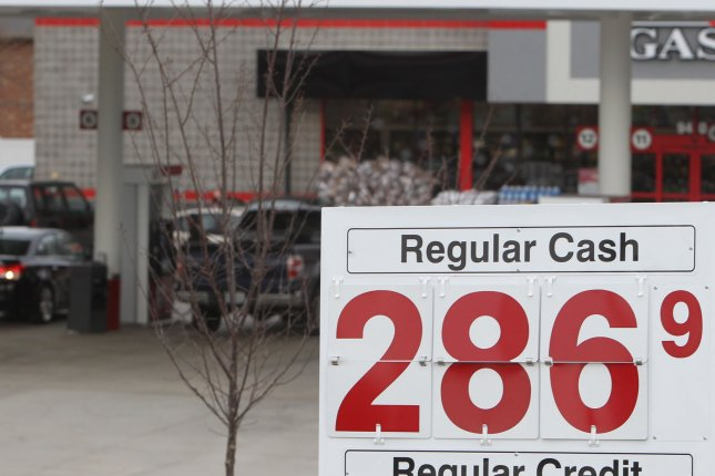 Gasoline prices are the highest they've been in four years, but still cheaper than the long Memorial Day holiday weekend. File Photo by Bill Greenblatt/UPI