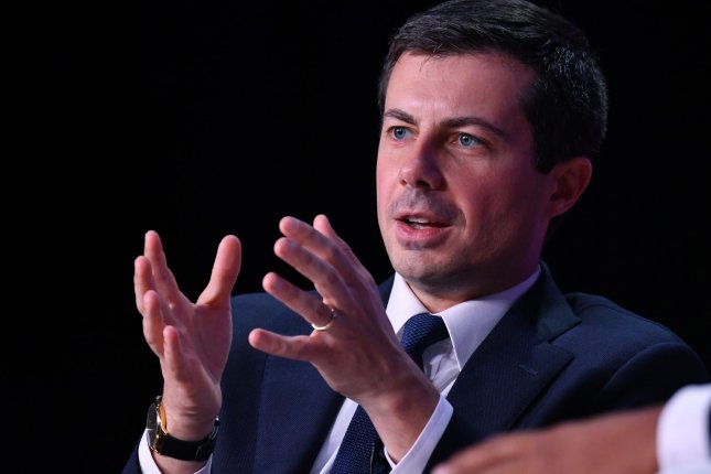 Democratic presidential hopeful Pete Buttigieg answers audience questions at a criminal justice forum on October 26 at Benedict College in Columbia, South Carolina. Photo by Richard Ellis/UPI
