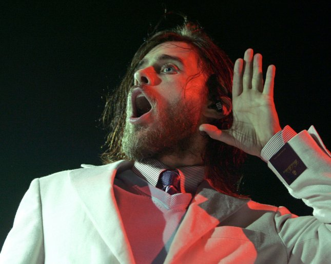 Jared Leto with 30 seconds to Mars performs in concert at the BankUnited Center in Coral Gables, Florida on March 9, 2007. (UPI Photo/Michael Bush)