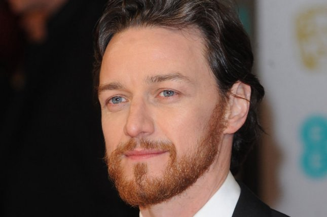 Scottish actor James McAvoy attends The EE British Academy Film Awards 2015 at The Royal Opera House in London on Feb. 8. Photo by Paul Treadway/UPI
