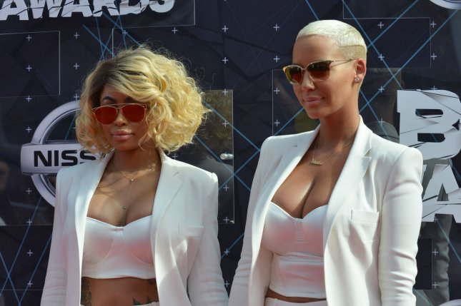 Amber Rose (R) and Blac Chyna at the BET Awards on June 28. The model slammed Kylie Jenner for her relationship with Blac Chyna's ex-fiancé, Tyga, in February. File photo by Christine Chew/UPI