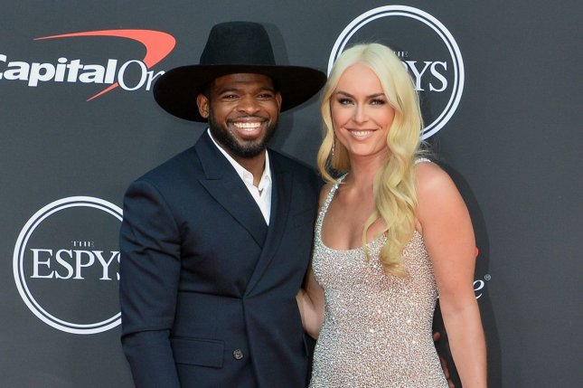 Lindsey Vonn (R) is engaged and excited about her future with P.K. Subban. File Photo by Jim Ruymen/UPI