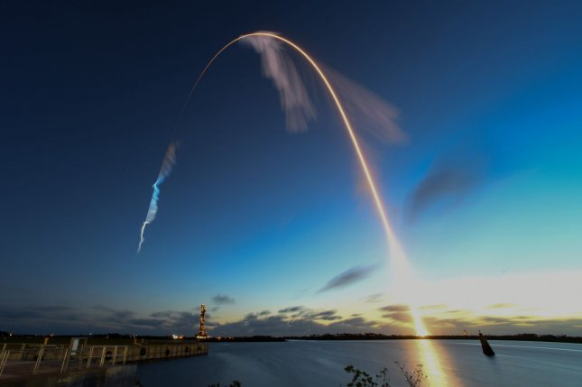 A United Launch Alliance Atlas V rocket launches an unmanned Boeing Starliner spacecraft at 6:36 a.m. EST Friday from the Cape Canaveral Air Force Station, Fla. Photo by Joe Marino-Bill Cantrell/UPI