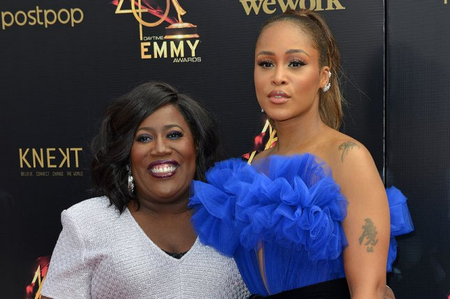 Sheryl Underwood (L) and Eve arrive on the red carpet for the 46th Annual Daytime Emmy Awards in May 2019. Underwood is serving as the host of the 48th annual Daytime Emmys. File Photo by Chris Chew/UPI