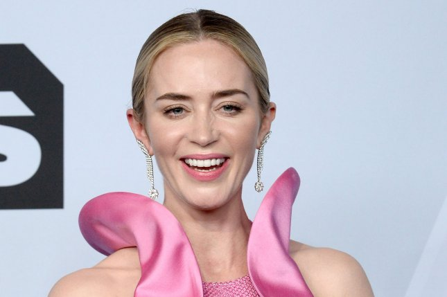 Emily Blunt talks about her new film with Dwayne Johnson titled Jungle Cruise on Good Morning America. File Photo by Jim Ruymen/UPI.