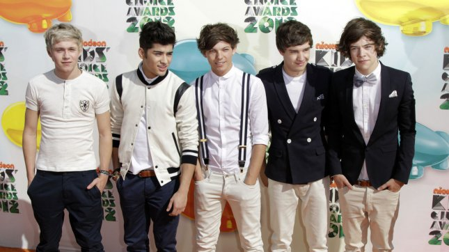 The band One Direction arrives for Nickelodeon's Kids' Choice Awards at USC's Galen Center in Los Angeles on March 31, 2012. UPI/Jonathan Alcorn