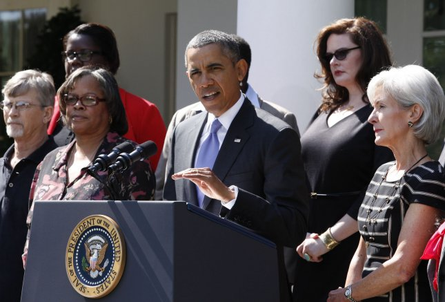 NY's Internet Marketplace got 10 million hits its first day. U.S. President Barack Obama delivers a statement in the Rose Garden in Washington after his meeting with Americans who will benefit from the opening of Health Insurance Marketplaces and being able to comparison shop for the health plans as a result of the Affordable Care Act on October 1, 2013. UPI/Yuri Gripas.