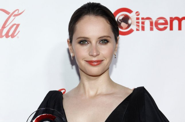 Felicity Jones tied the knot with Charles Guard Sunday in England. File Photo by James Atoa/UPI